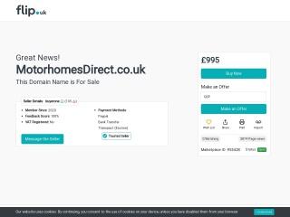 Screenshot for motorhomesdirect.co.uk