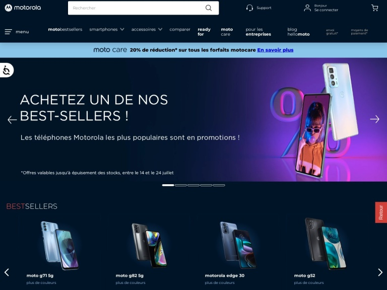 Motorola France screenshot