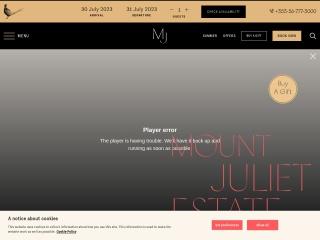 Screenshot for mountjuliet.ie