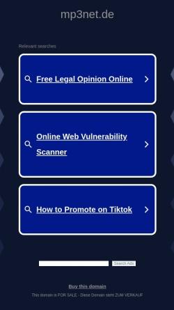 Vorschau der mobilen Webseite www.mp3net.de, MP3net - MP3-Musik-Verzeichnis