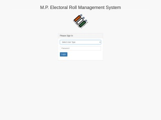 Screenshot for mpmlaelection.nic.in