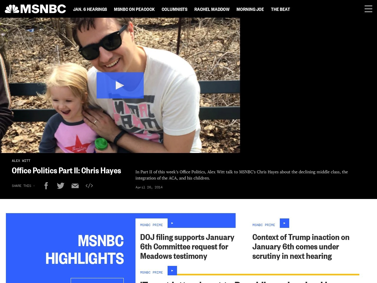 Office Politics Part II: Chris Hayes | MSNBC