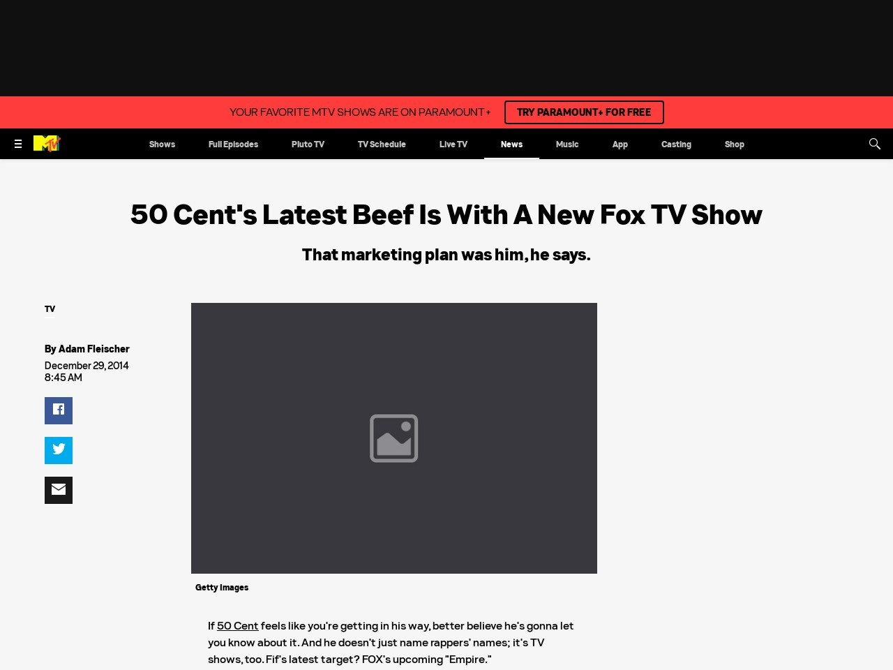 50 Cent's Latest Beef Is With A New Fox TV Show