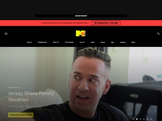 Screenshot for mtv.com