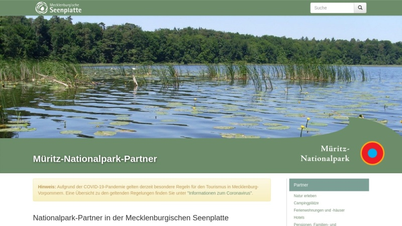 www.mueritz-nationalpark-partner.de Vorschau, Müritz-Nationalpark-Partner