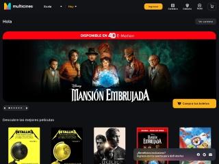 Captura de pantalla para multicines.com.ec