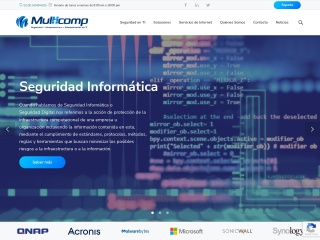 Captura de pantalla para multicomp.com.mx
