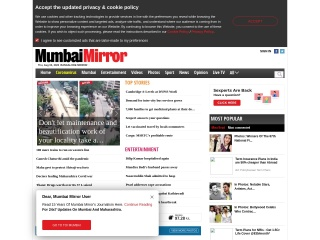 Screenshot for mumbaimirror.com