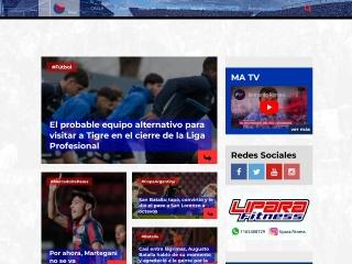 Captura de pantalla para mundoazulgrana.com.ar