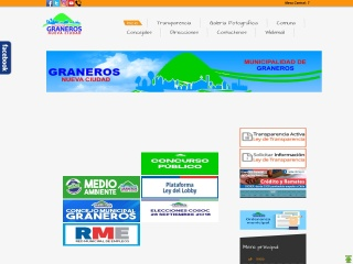 Captura de pantalla para municipalidadgraneros.cl