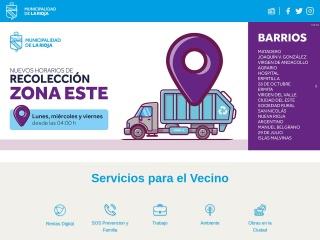 Captura de pantalla para municipiolarioja.gob.ar