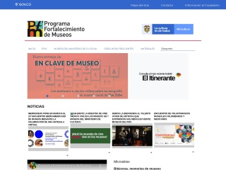 Captura de pantalla para museoscolombianos.gov.co