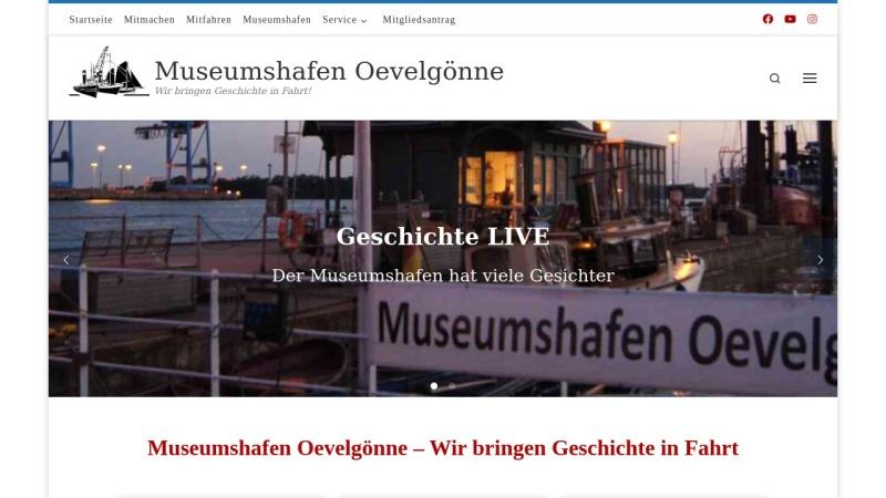 www.museumshafen-oevelgoenne.de Vorschau, Museumshafen Oevelgoenne