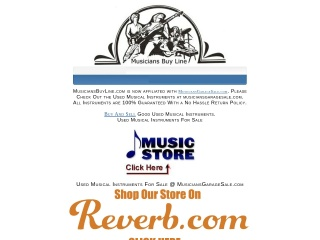 Screenshot for musiciansbuyline.com