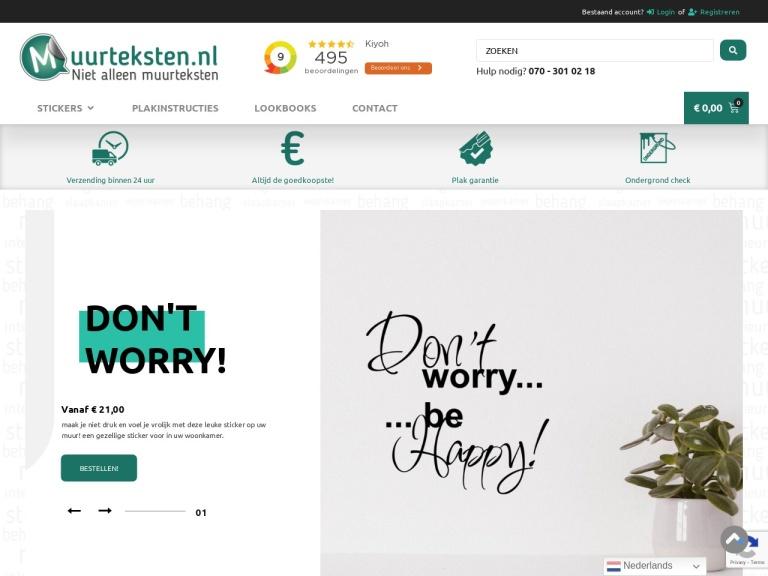 Muurteksten.nl screenshot