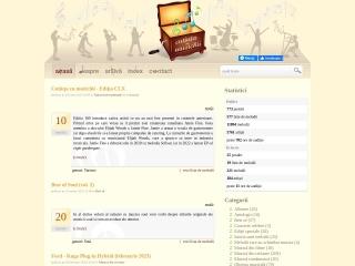 Screenshot al site-ului muzichii.ro
