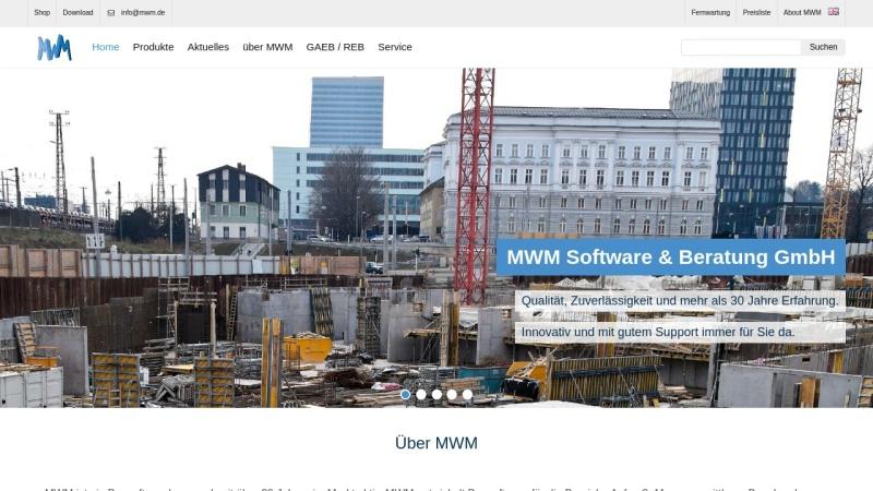 www.mwm.de Vorschau, MWM Bausoftware