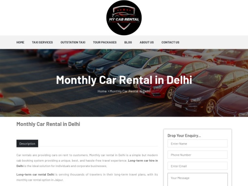 Rent a car for a month in Delhi