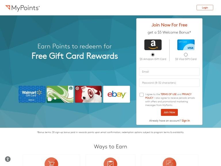 Mypoints screenshot