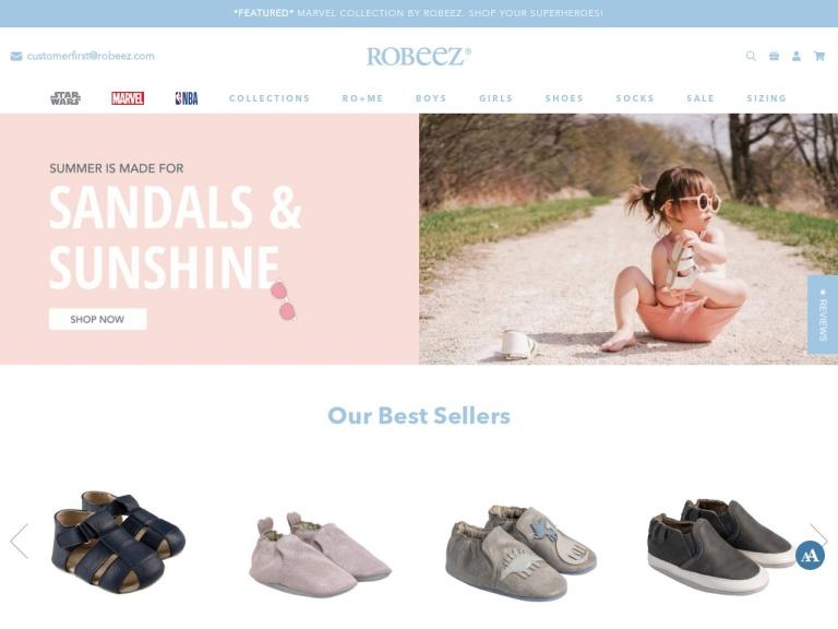 Robeez Footwear Ltd. screenshot