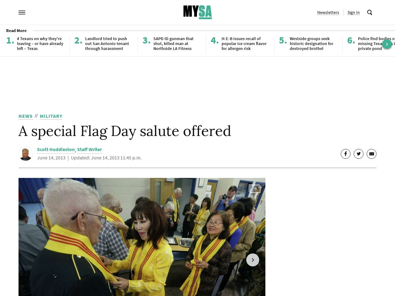 A special Flag Day salute offered