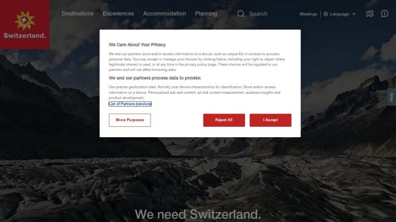 www.myswitzerland.com Vorschau, Schweiz Tourismus