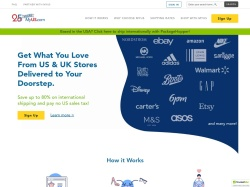 MyUS.com screenshot