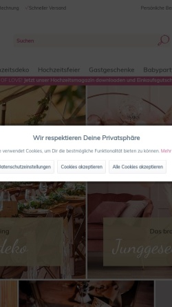 Vorschau der mobilen Webseite www.myweddingshop.de, My Weddingshop