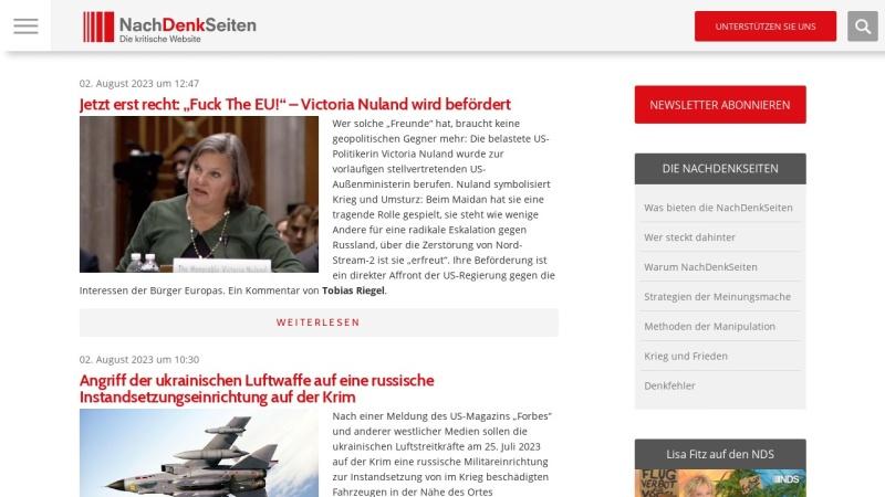www.nachdenkseiten.de Vorschau, NachDenkSeiten - das kritische Tagebuch