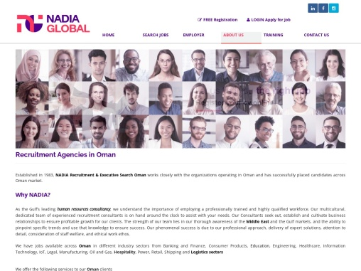 Executive Search Firm in Oman | NADIA Recruitment