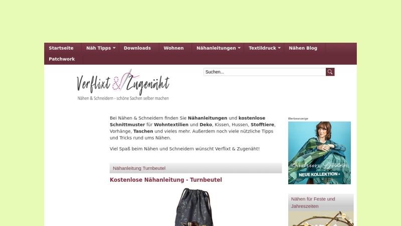 www.naehen-schneidern.de Vorschau, Verflixt und Zugenäht