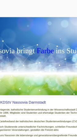 Vorschau der mobilen Webseite www.nassovia.de, Nassovia zu Darmstadt