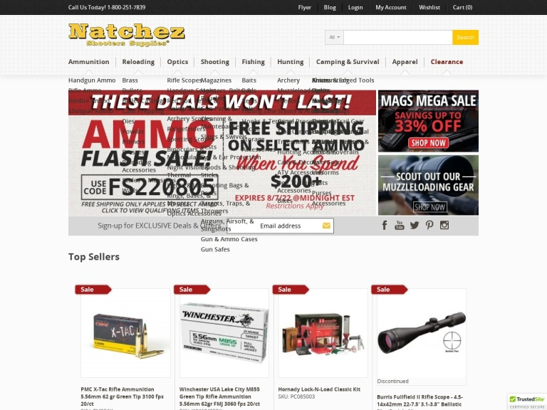 Natchez Shooters Supplies screenshot