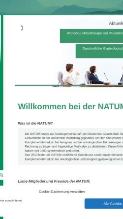 Vorschau der mobilen Webseite www.natum.de, Naturheilkunde, Akupunktur und Umweltmedizin in der Frauenheilkunde
