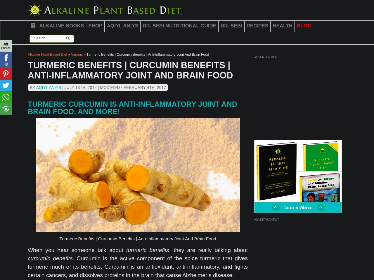 Turmeric Benefits | Curcumin Benefits – Natural Life Energy