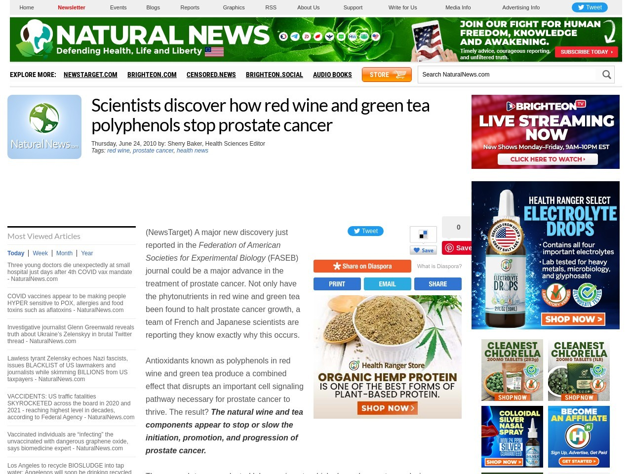 Scientists discover how red wine and green tea polyphenols stop prostate cancer