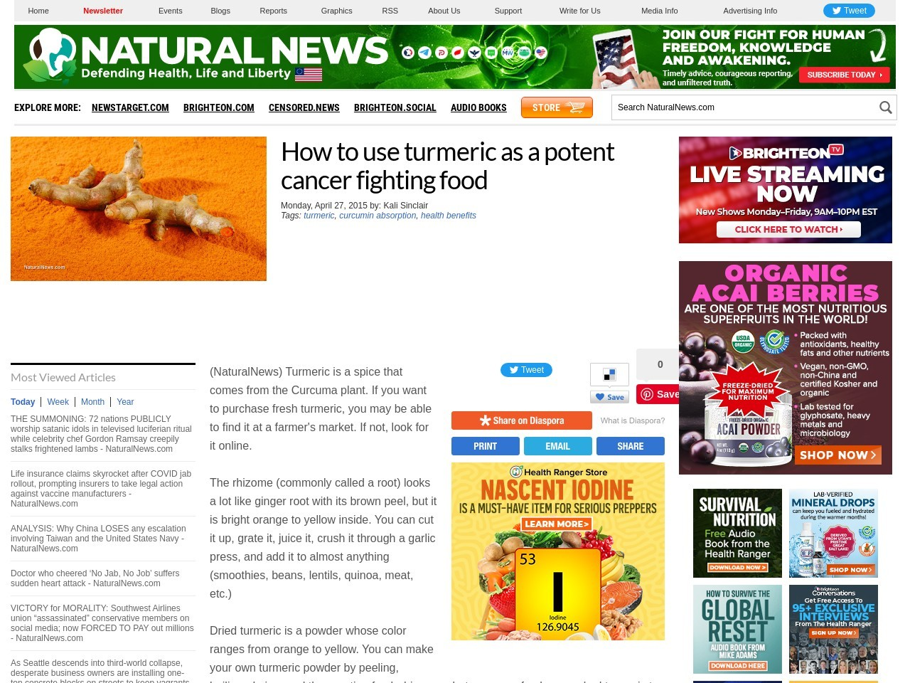 How to use turmeric as a potent cancer fighting food …