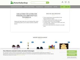 Screenshot der Website naturbabyshop.at