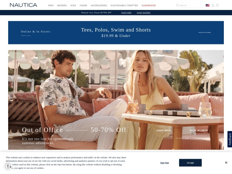 Nautica.com screenshot