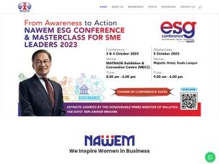 Screenshot bagi nawem.org.my