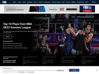 Screenshot for nba.com