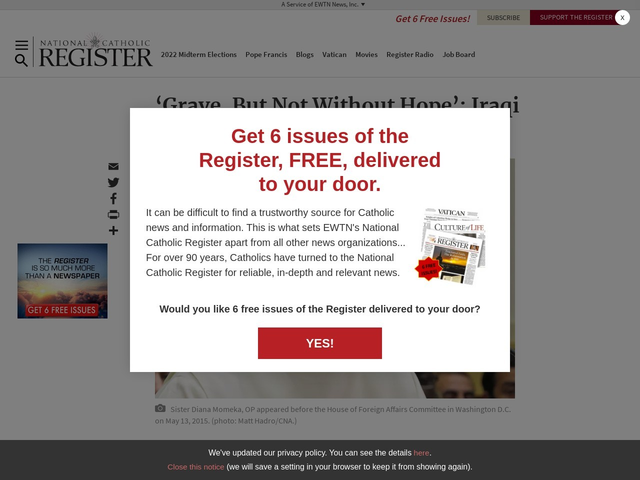 'Grave, But Not Without Hope': the Full Testimony of Sister …