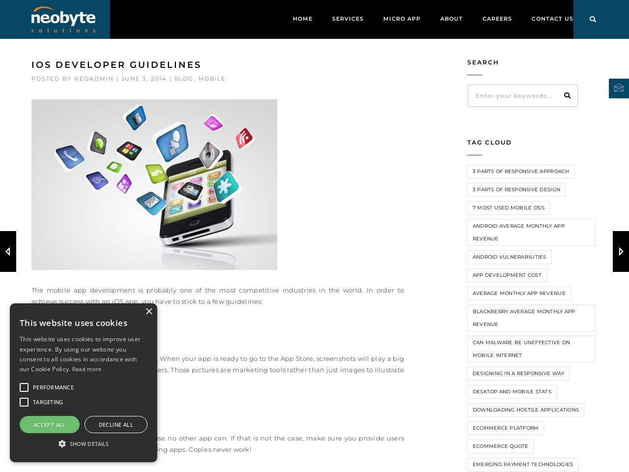 iOS Developer guidelines | Neobyte Solutions