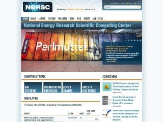 Screenshot for nersc.gov