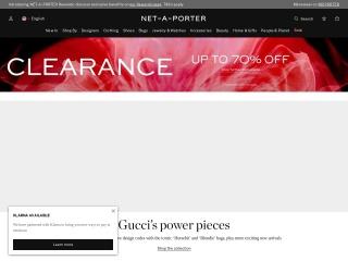 screenshot net-a-porter.com