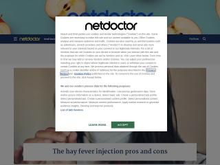 Screenshot for netdoctor.co.uk