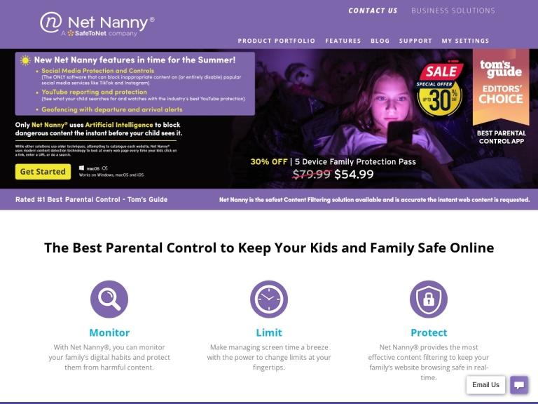 Net Nanny screenshot