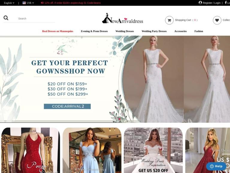 NewArrivalDress screenshot