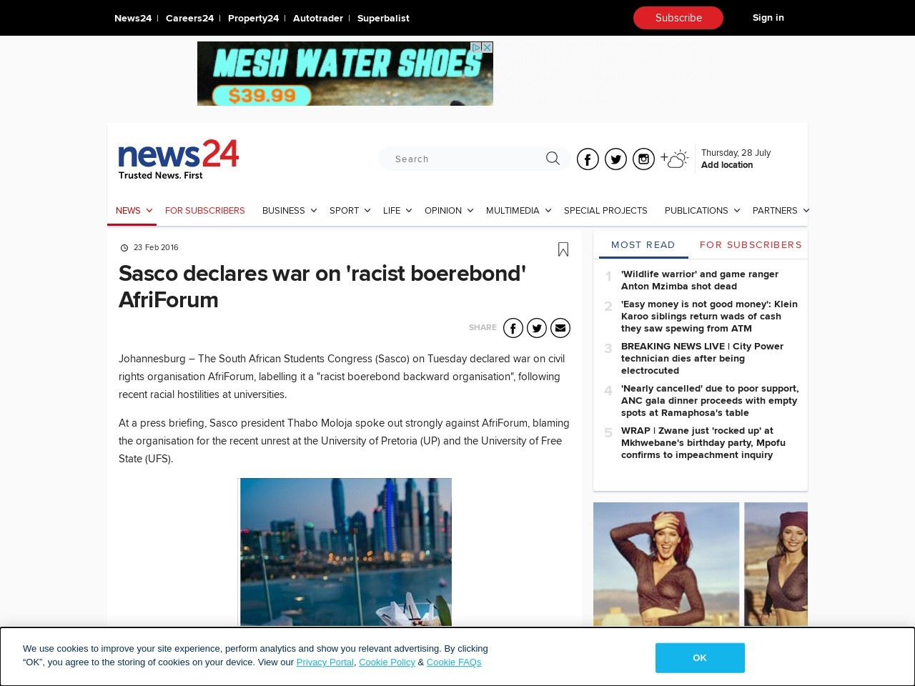 Sasco declares war on 'racist boerebond' AfriForum