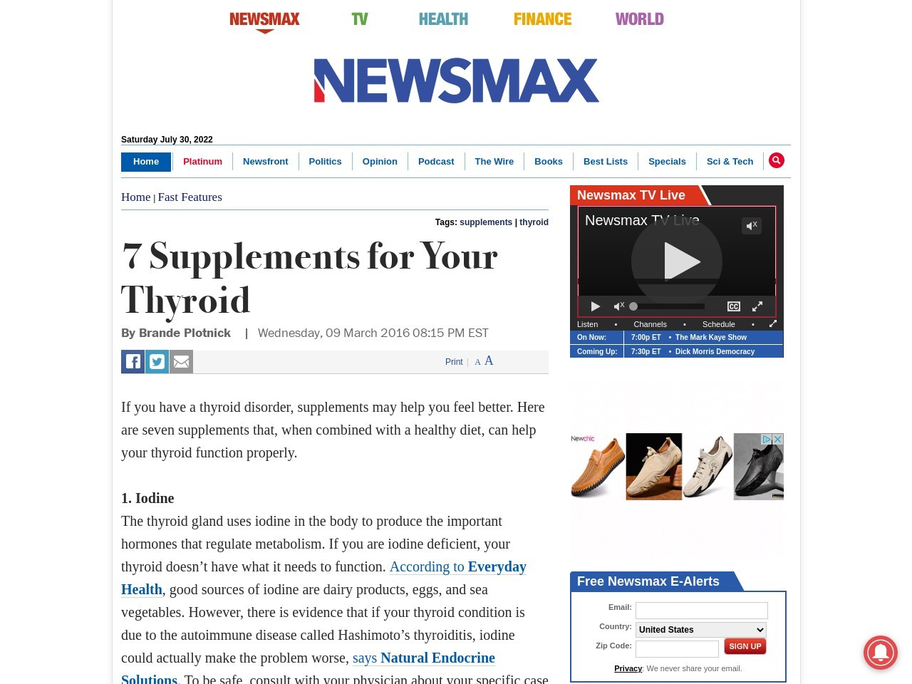 7 Supplements for Your Thyroid